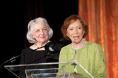 ECBT Cofounders Rosalynn Carter and Betty Bumpers express their gratitude .