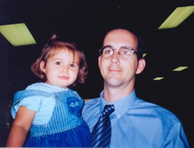 Joe Lastinger pictured with his daughter Emily.  Her death sparked grief and regret, as well as his determination to prevent other children from losing their lives to influenza.