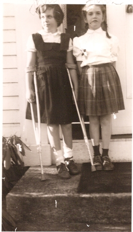 Judy Post Polio with Sister